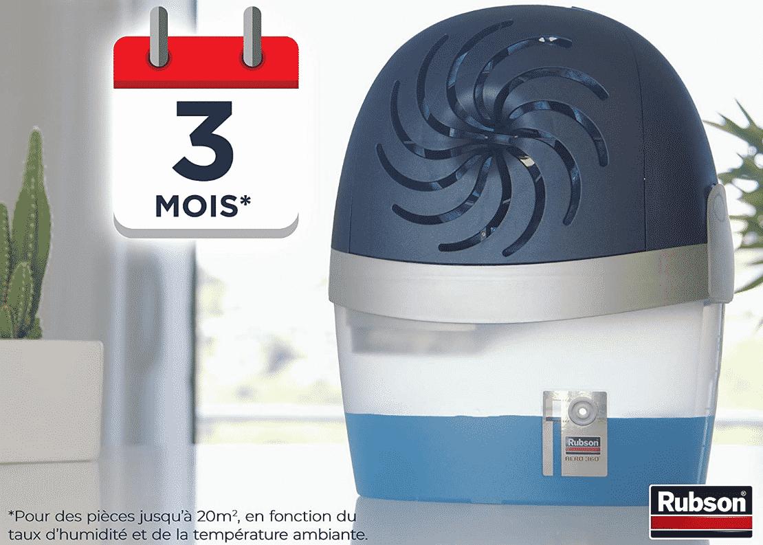 Meilleur absorbeur d'humidité Rubson Aero 360°