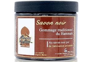 gommage corps au savon noir Maroc Argan